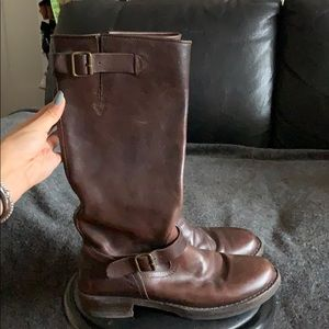 Women's Costume National Brown Leather Boots